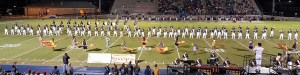 Buckhorn High School Marching Band at football game