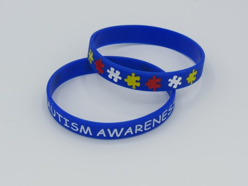 Autism Awareness Wristband front back