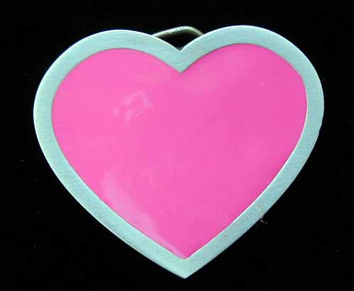 """4621E Pink Heart 2 7/8"""" by 2 1/2"""""""