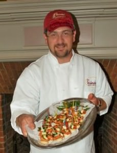 Kenny Hicklin of the Waterwheel Restaurant with mini-BLTs