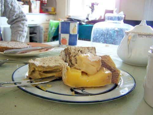 Bobolink Dairy cheese; photo by L. Goldman