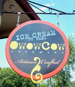 oWowCow Creamery sign