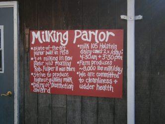 Fulper Farm milking parlor