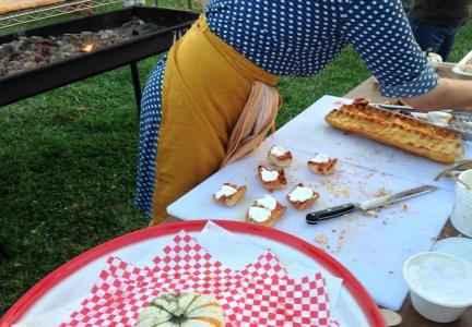 Melissa Hamilton making Pan Con Ricotta; photo by L Goldman