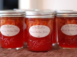 Peach Melba Jelly_2 Sisters Canning