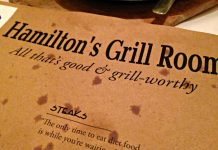 Hamilton's Grill Room new menu