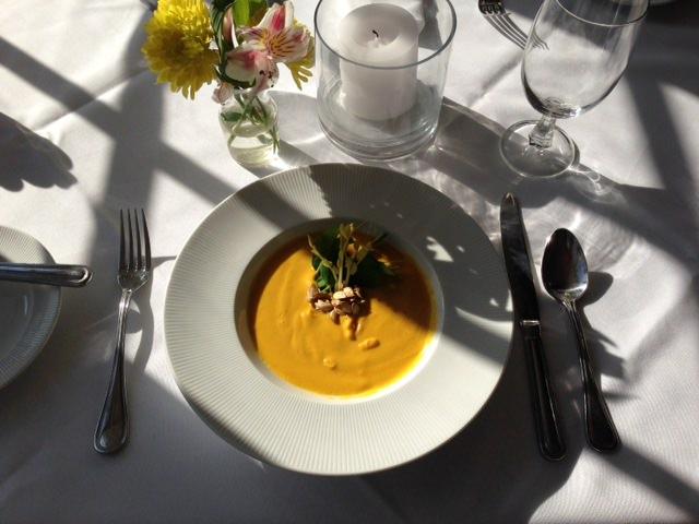 Butternut Squash Soup at the Golden Pheasant Inn