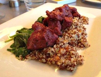 Corned Beef Seitan and Quinoa_Calebs