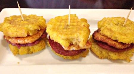 Ma's Kitchen Tostone Breakfast Sandwich