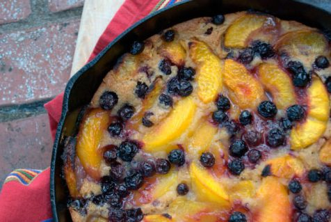 Berry Peach Cobbler