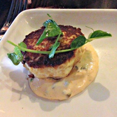 Chef Ian Knauer's crab cake with remoulade