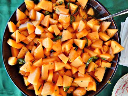Spicy Cantaloupe Salad by Rich Baringer