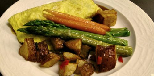 Omelet at Black Bass Hotel; photo courtesy of Black Bass Hotel