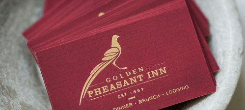 Menus, Golden Pheasant Inn