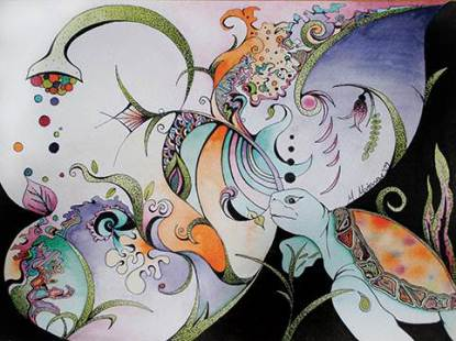 Melissa Matarese painting