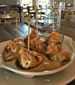 French onion soup dumpling Mansion Inn
