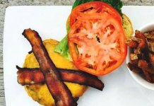 Doylestown Brewing Co. cheeseburger with bacon