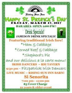 St. Patrick's Day at Rising Sun Inn