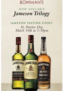 Jameson Trilogy at Bowman's Tavern; Bucks County food events