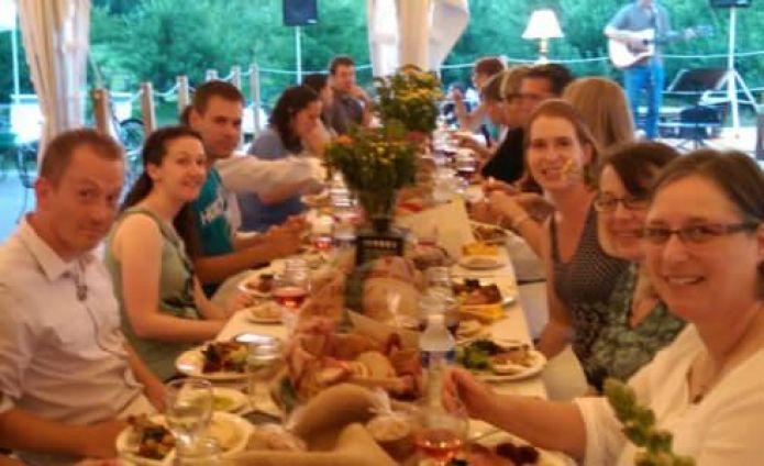 Farm to table dinner, Tabora Farms photo credit