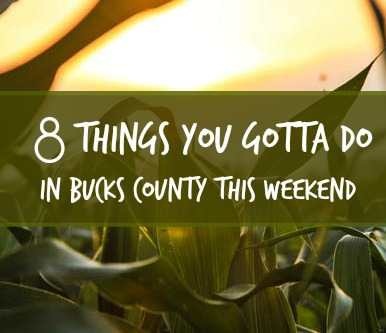 8 things you gotta do in Bucks this weekend (Aug 18-20)