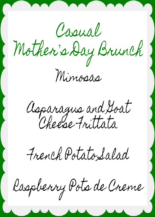 Casual Mother's Day Brunch by Martine Bertin-Peterson