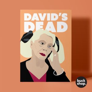 David's Dead - Celebrity Big Brother Greeting Card