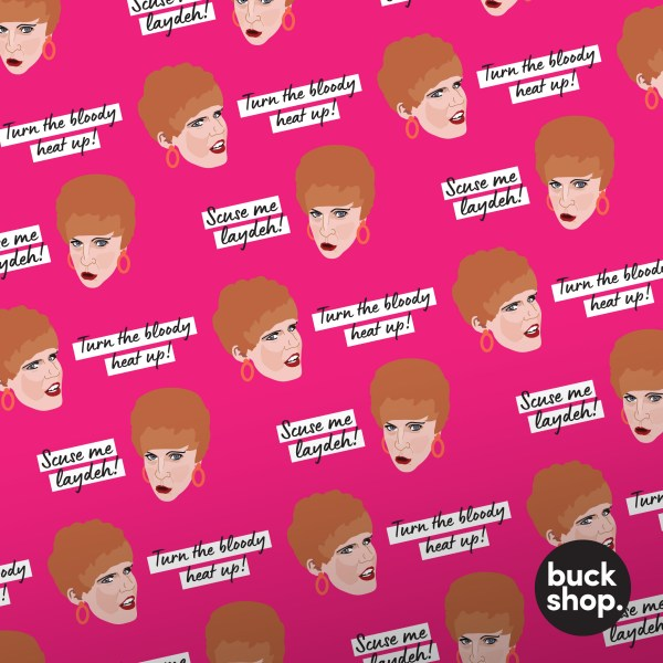 Charity Shop Sue inspired Wrapping Paper