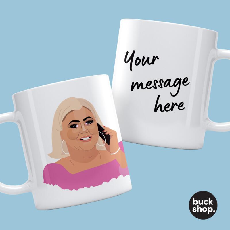 gemma collins inspired personalised mug  buck shop