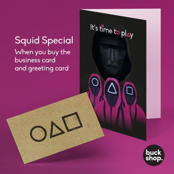 Squid Game inspired Greeting Card, Birthday Card