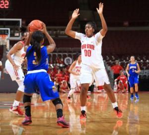 Freshman Kaylan Pugh exits the Ohio State women's basketball program