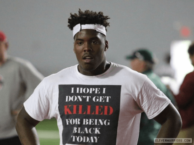 Ohio State Football Recruit Wears T-Shirt: 'I Hope I Don't Get Killed for Being Black Today'