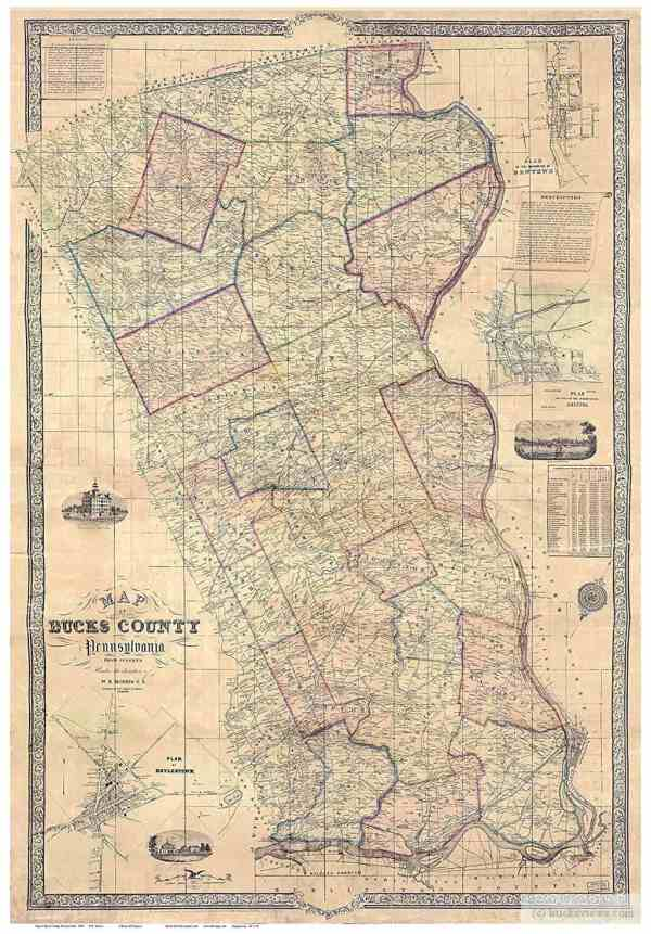 Maps of Bucks County PA current and vintage BucksViews