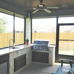 Out Door Kitchen Blue Appliances Outdoor Builder In College Station Buck The Contractor