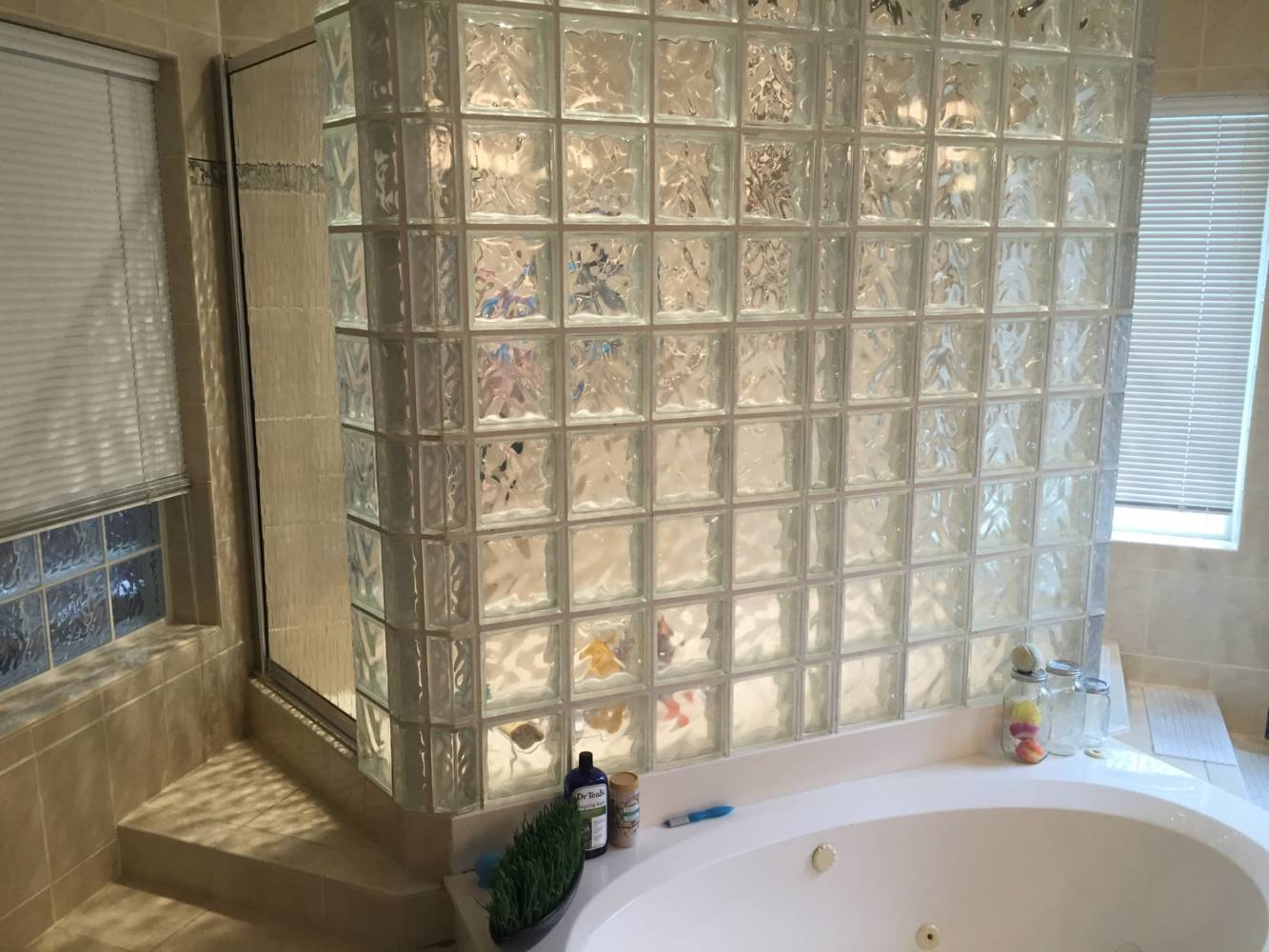 Walk Through Shower Soaker Tub Bathroom Reno Buck The