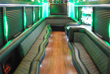 Marvelous Party Bus Chicago Information Bucktown Bars Com. Designer Interiors Each Party  Bus Is Custom