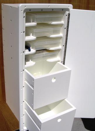 King Starboard 2 Drawer  4 Shelf Tackle Center  13W x
