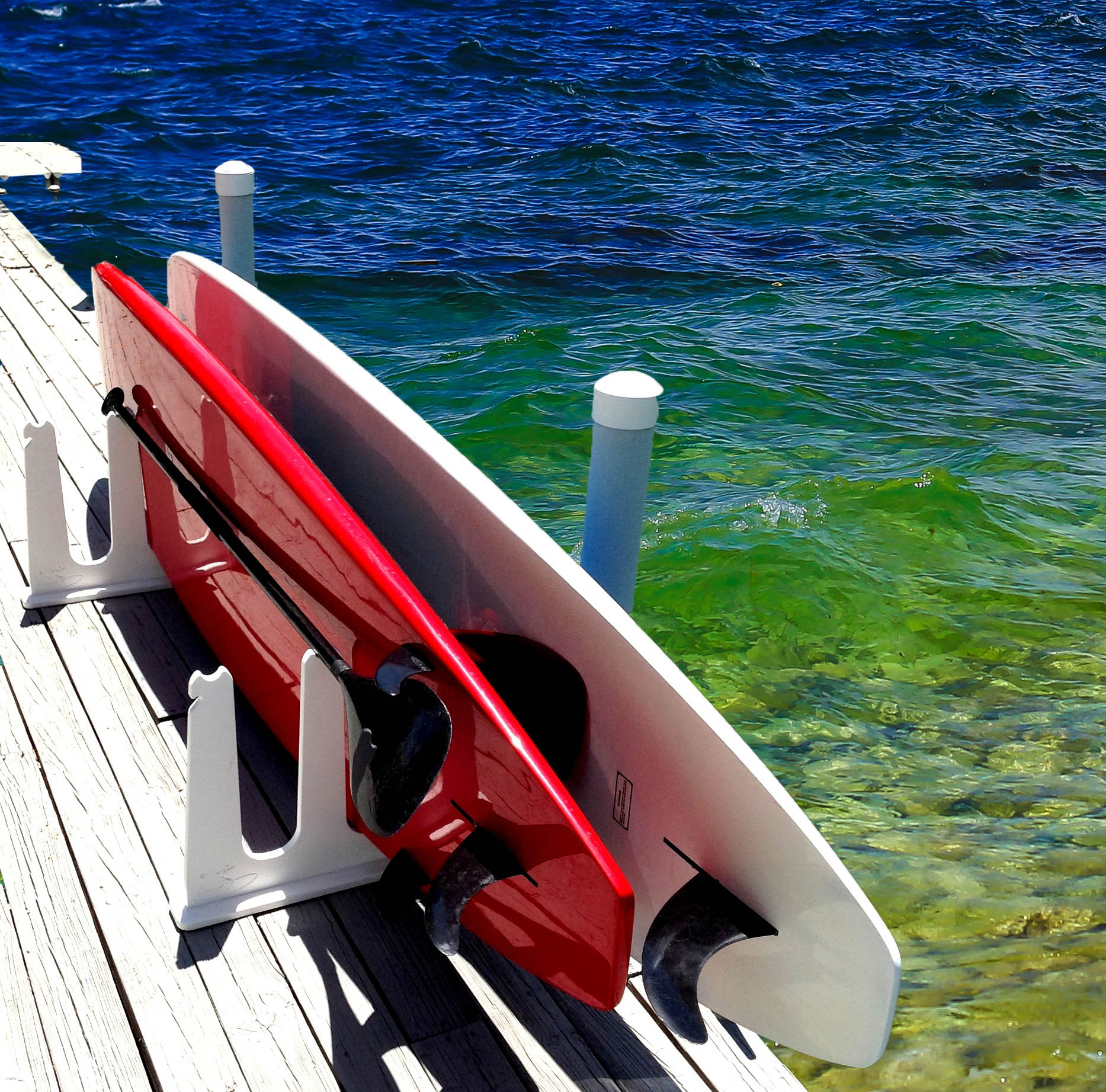 stand up paddle board storage for docks piers totally weatherproof free domestic shipping