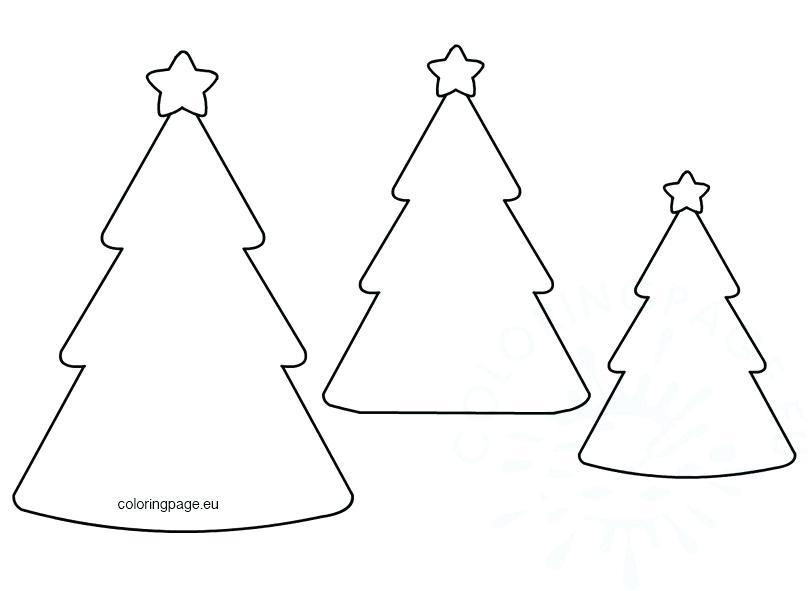 tree shape template free christmas shapes templates printable