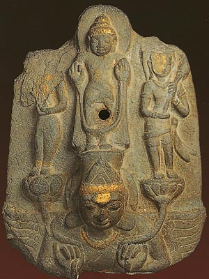 Thailand Buddhism Dvaravati art Phra Pathom Chedi, Buddha Images