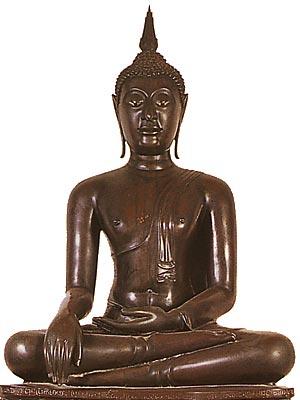 Thailand Buddha Images Khmer Subduing Mara, Khmer style, Wat Benchamabophit