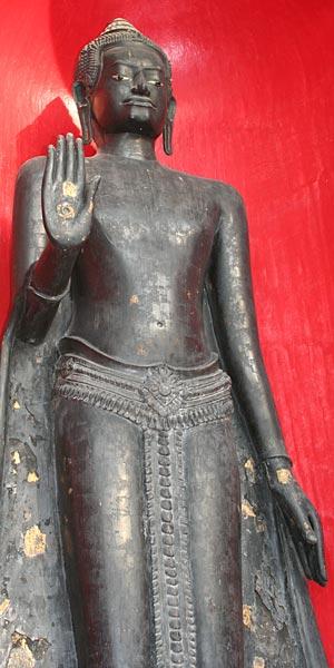 Thailand Buddha Images Khmer Standing Buddha Image, Royal Attire, Lopburi Style