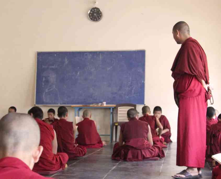 Childfren Monks at Gaden Shatse Monastery