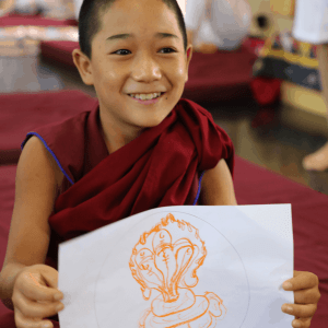 Child Monk with Mandala
