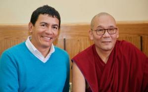 Juan Ruiz with Gyuto Monastery Abbot
