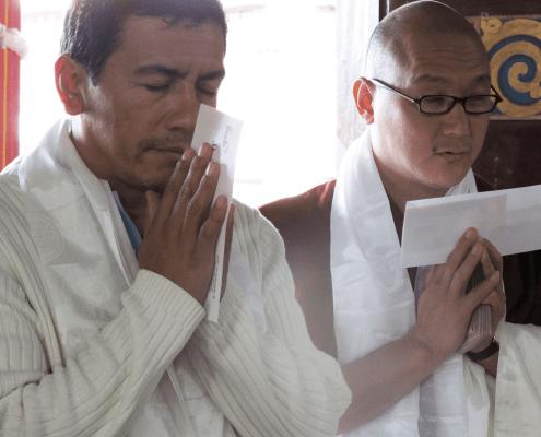 Juan Ruiz and Geshe Gyaltsen in a offering IMG_0620