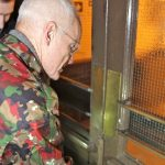 Lama Ole Nydahl entering the Beaufoy Institute, our new Buddhist centre