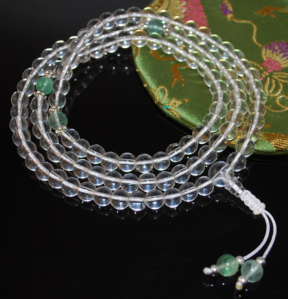 Crystal Mala Prayer Beads