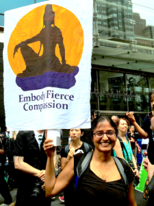 Embody fierce compassion sign