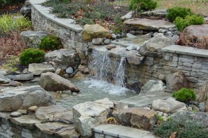 Waterfalls landscaping & design in Howard County, Baltimore, Carroll, Frederick & Montgomery counties.